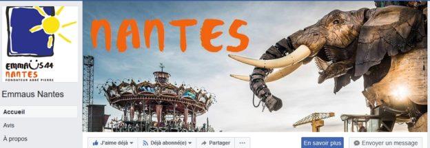 Facebook Emmaüs44 Nantes