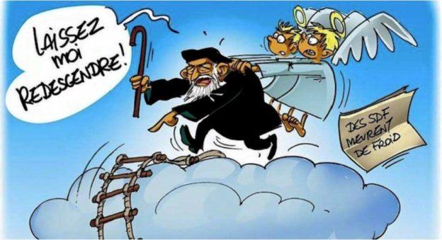 caricature de l'abbé pierre