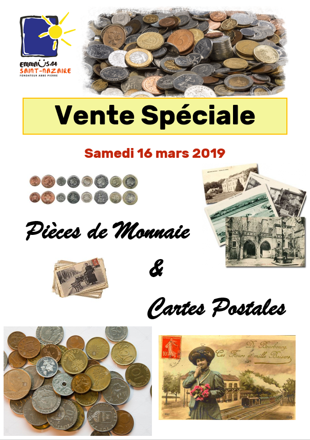 Vente spéciale pièces de monnaie et cartes postales