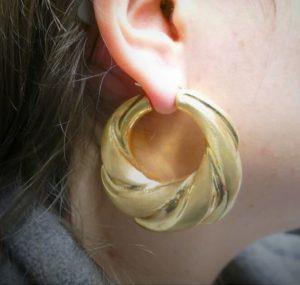 Boucle d oreille Créole en or