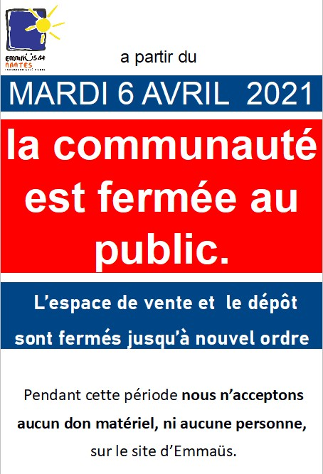 fermeture communauté 202104