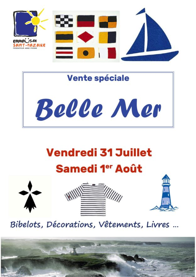 Vente Spéciale Belle Mer vendredi 31 juillet 2020 et samedi 1er août 2020