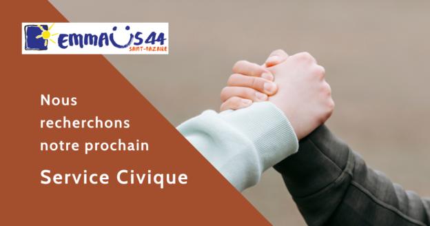 Emmaus Saint Nazaire recherche son service civique